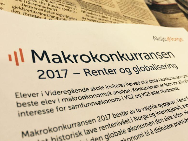 Besvarelser Makrokonkurransen 2017