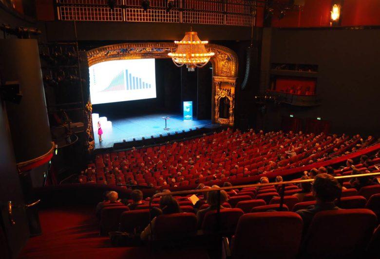 God stemning på aksjekvelden i Oslo